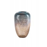 Стеклянная ваза бежевая d16*22см HJ666-22-X1