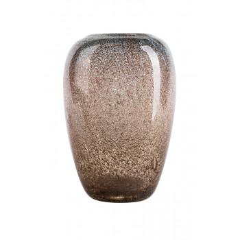 Стеклянная ваза бежевая d17,5*27см HJ666-27-X1