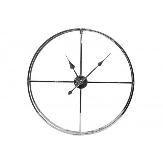 Часы настенные цвет хром d76см 79MAL-5761-76NI в интернет-магазине ROSESTAR фото