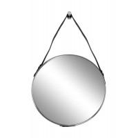 Зеркало на кожаном ремне, рама металлическая, цвет хром d61см арт. 79MAL-9190-116NI