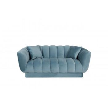 Велюровый двухместный диван Fabio с двумя подушками