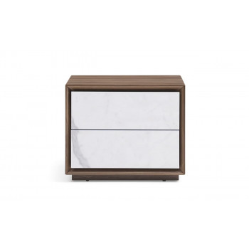 Прикроватная тумбочка с ящиками и  керамическим фасадом 55*45*45см
