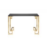 Консоль на металлических ножках черное стекло/золото 120*40*78см 13RXC3049-GOLD