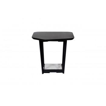 Журнальный столик из дерева и металла с керамической полкой 55*50*50см 57EL-ET621B
