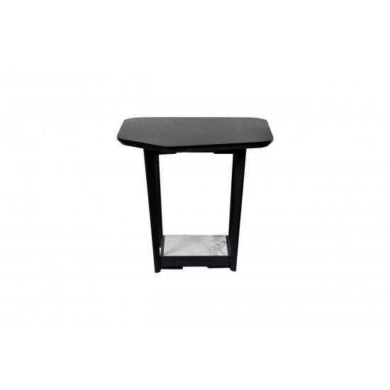 Журнальный столик из дерева и металла с керамической полкой 55*50*50см 57EL-ET621B  в интернет-магазине ROSESTAR фото