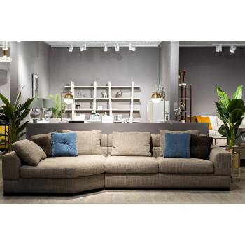 Комплект мебели №2: Модульный диван трёхместный угловой с трапецией LAZIO Левый