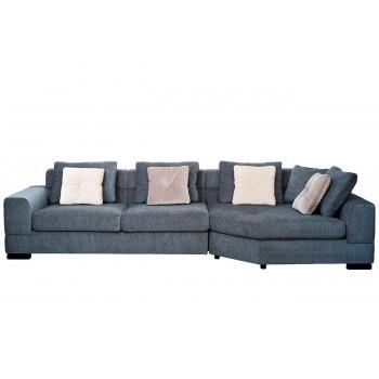 Комплект мебели №4: Модульный диван трёхместный угловой с трапецией LAZIO Правый