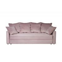 Велюровый трёхместный раскладной диван Mores Пыльная роза 226*103*94 Ром85