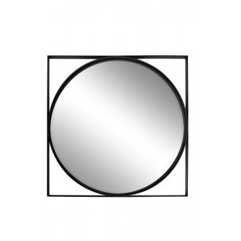Зеркало круглое в черной раме d81см 19-OA-6321