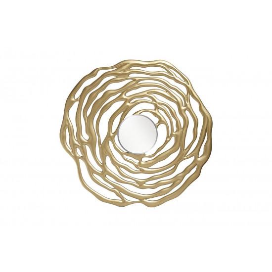 Зеркало декоративное в золотистой раме d85см 19-OA-6307  в интернет-магазине ROSESTAR фото