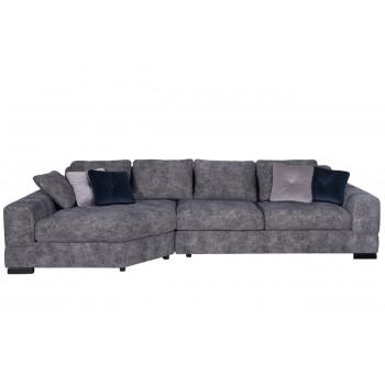 Комплект мебели №8: Модульный диван трехместный угловой с трапецией LAZIO Левый