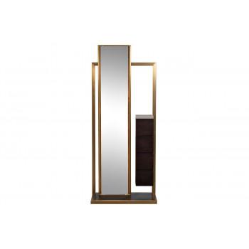 Зеркало напольное в полный рост с подсветкой и тумбой 75*40*180см 58DB-MR18158