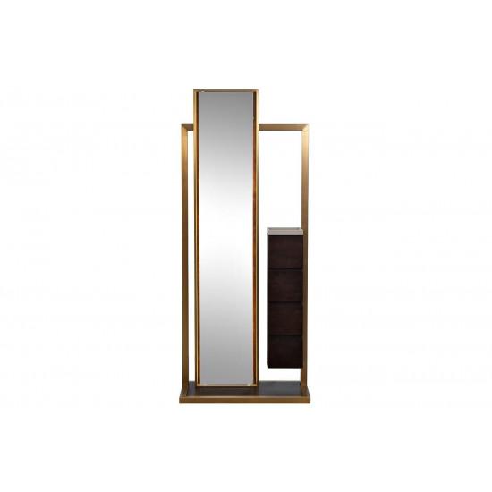 Зеркало напольное в полный рост с подсветкой и тумбой 75*40*180см 58DB-MR18158 в интернет-магазине ROSESTAR фото