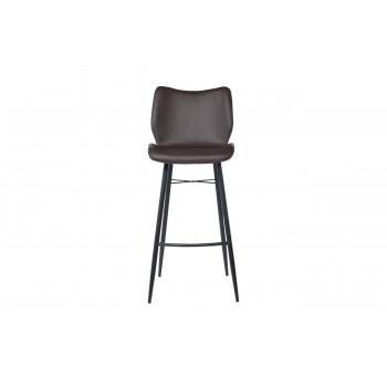 Барный стул из экокожи на металлических ножках темно-коричневый  56*42*102см 30C-TDC-104 BRN