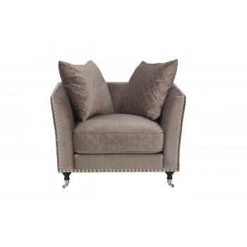 Велюровое кресло крем-брюле мягкое Sorrento 98*101*88см Bel42