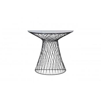 Консоль темное тонированное стекло/черный металл 90*45*80см 46AS-CST4846-BL