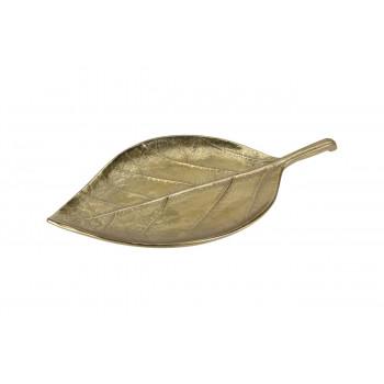 Декоративная тарелка Лист цвет золото 30*15,5*2см A06560110