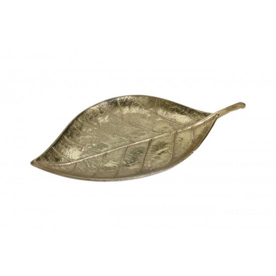 Декоративная тарелка Лист цвет золото 44*23*3см A06560120 в интернет-магазине ROSESTAR фото