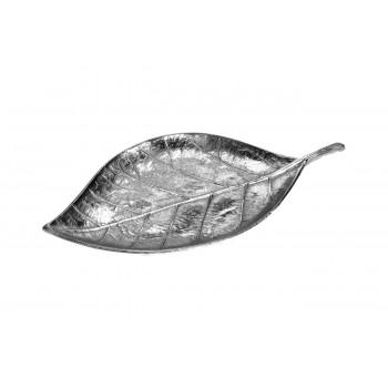 Декоративная тарелка Лист цвет серебро 44*23*3см A06561010