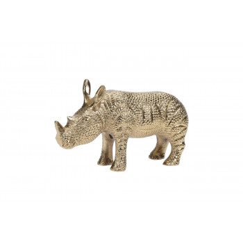 Статуэтка Носорог цвет золото 17,5*5*11см A98000500