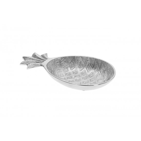 Декоративная тарелка Ананас цвет серебро 20,5*12*2,5см A98001170 в интернет-магазине ROSESTAR фото