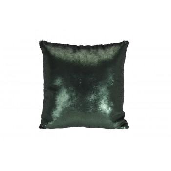 Подушка с пайетками зеленая 43*43см