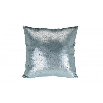 Подушка с пайетками голубая 43*43см 767542160