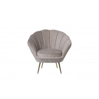 Велюровое кресло бежевое мягкое 79*87*93см PJS16001-PJ631