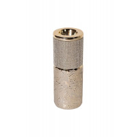 Керамический подсвечник золотистый со стразами 7,5*7,5*14см 18H6112-15
