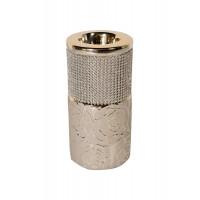 Керамический подсвечник золотистый со стразами 7,5*7,5*20см 18H6112-20