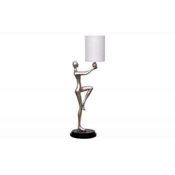 Высокая настольная лампа с бежевым плафоном Весталка ART-4492-LM