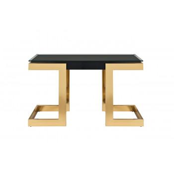 Консоль со стеклом на металлических золотых ножках Marbella 130*37*76,5см 58DB-CST18166