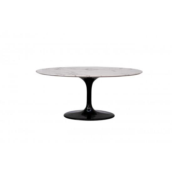 Стол обеденный овальный белый Pearl White 170*110*76 33FS-DT3056-BLWH  в интернет-магазине ROSESTAR фото