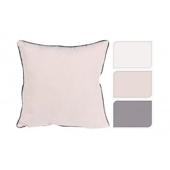 Декоративная вельветовая подушка с кантом 45*45см NB3304020 в интернет-магазине ROSESTAR фото