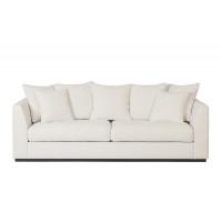 Велюровый трёхместный диван Roberto Кремовый 250*100*90см Ant981