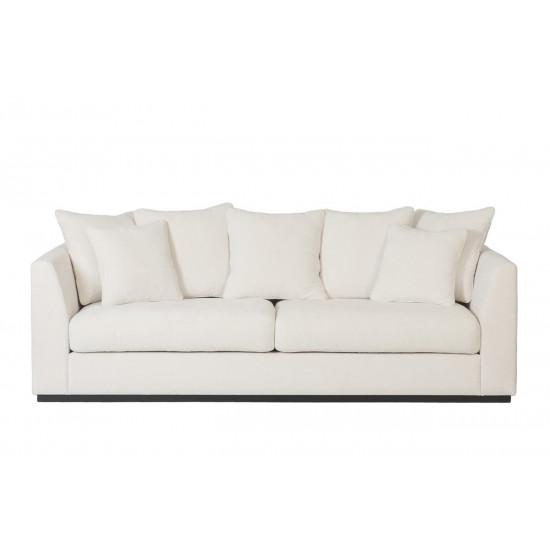 Велюровый трёхместный диван Roberto Кремовый 250*100*90см Ant981  в интернет-магазине ROSESTAR фото