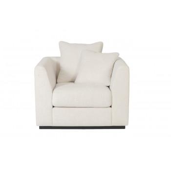 Велюровое кресло кремовое мягкое Roberto 105*100*90см Ant981