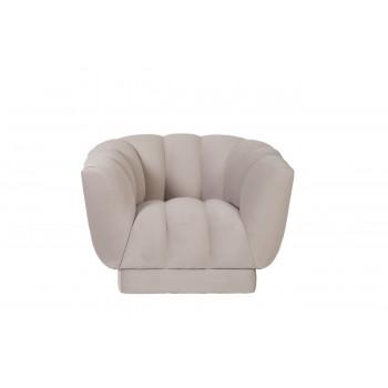 Велюровое кресло бежевое мягкое Fabio 104*96*74см Gen105