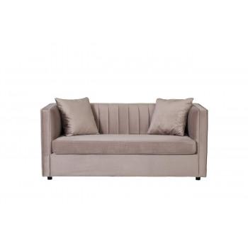 Велюровый двухместный раскладной диван Paolo Бежевый 182*90*78см,2 подушки Bel16