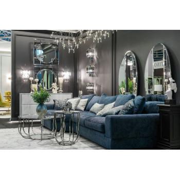 Комплект мебели №17: Модульный диван трехместный угловой раскладной с трапецией LAZIO Левый