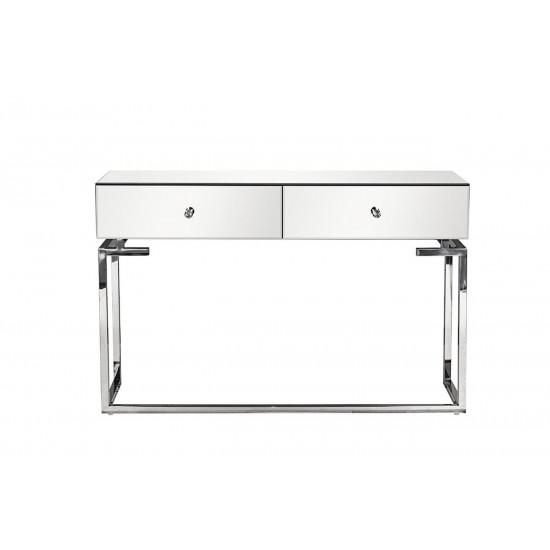 Консоль зеркальная с двумя ящиками 120*35*77см KFG075  в интернет-магазине ROSESTAR фото