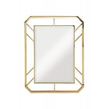 Зеркало прямоугольное в металлической раме, цвет золото 71*91*2см KFG081