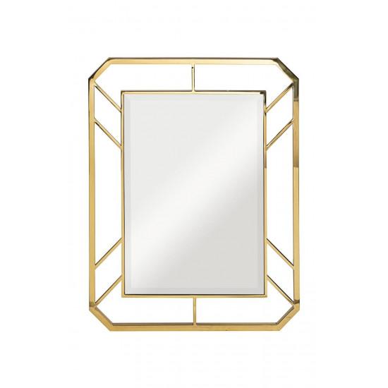 Зеркало прямоугольное в металлической раме, цвет золото 71*91*2см KFG081 в интернет-магазине ROSESTAR фото