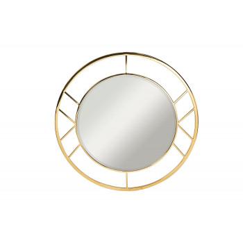 Круглое зеркало в металлической раме цвет золото d91,5см  KFG082