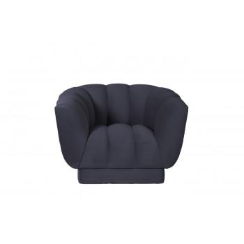 Синее кресло велюровое мягкое Fabio 104*96*74см Gen12