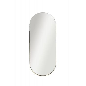 Овальное зеркало в металлической раме, цвет золото 45*110*3,5см 19-OA-6385