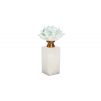 Декор Голубая хризантема на мраморной подставке d10*19см 55RD3944S