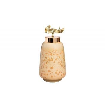 Керамическая ваза с крышкой Гинкго d19*37см 55RD4045L