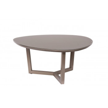 Журнальный столик на металлической основе со стеклянной столешницей 89*89*41см 58DB-CT13196