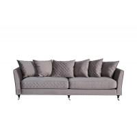 Велюровый трёхместный раскладной диван Sorrento Крем-брюле 230*101*86см Bel42